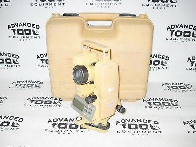 Topcon Dt-209 Optical Digital Theodolite W Free Carrying Case Dt-200