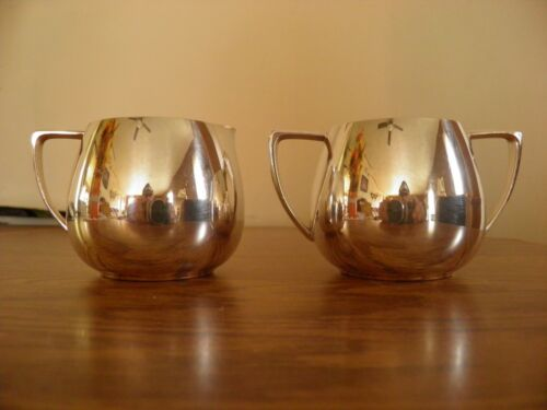 Vintage Empire Crafts Quadruple Plated Cream and Sugar Bowl