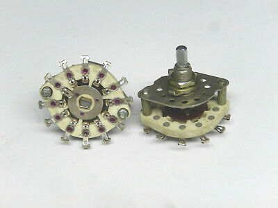 Ceramic Rotary Switches 1 Pole 11 Positions Lot Of 2pcs