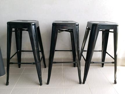 3 metal stools - Sold