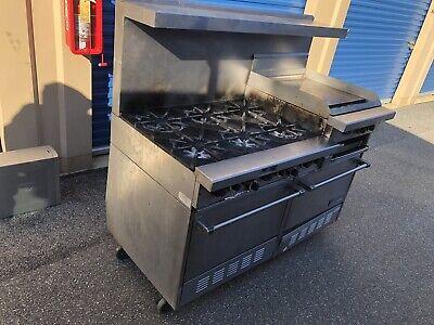Garland H283rc Commercial 6 Burner Gas Range W 2 Ovens Griddle Broiler