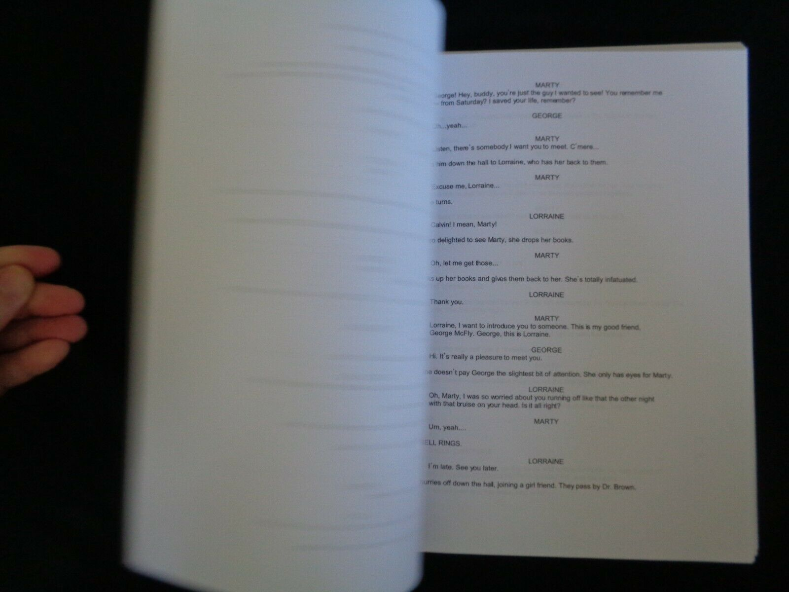 Back To The Future Movie Script Film Screenplay Michael J Fox Zemeckis 4th Draft - $37.59