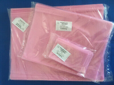 3x5 To 18x24 Elkay Pink Flat Anti-static Poly Bags 2mil Hard Drives Electronics