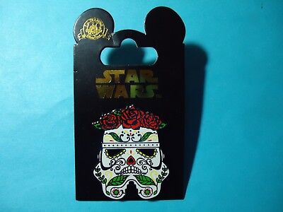 Disney Parks Star Wars Stormtrooper Skull Day Of The Dead Pin     New On Card