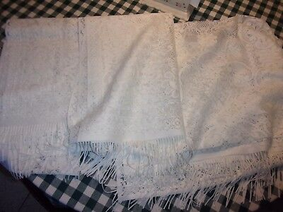 Lot 3 modern white runner piano scarves scarf - LOTNAT - Piano Runner