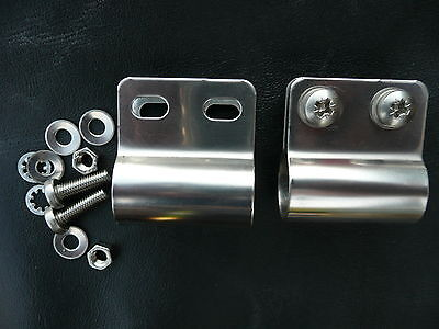 DESMO BADGE BAR MOUNTING X 2  FITTINGS ALL STAINLESS