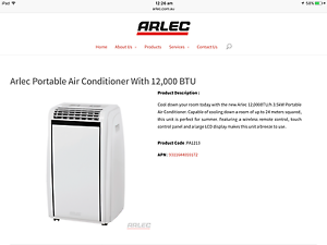 Arlec portable air conditioner 3.5 kw.3mths old , Labrador Gold Coast City Preview