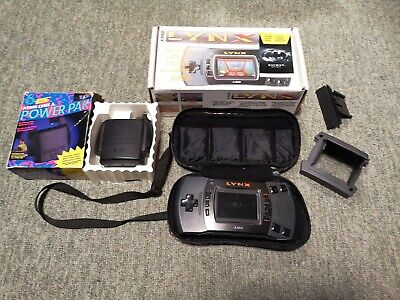Atari Lynx 2 - Tested&Working. With Box, Carry Bag, Battery Pack & Travel Visor.