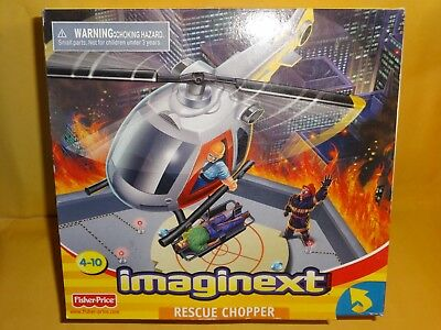 Fisher Price Imaginext Rescue Chopper  78347  2002   New   Discontinued In 2005