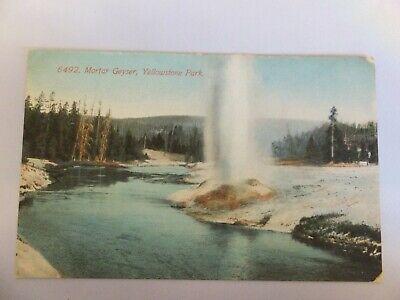 Yellowstone postcard - Acmegraph -  6492 Mortar Geyser