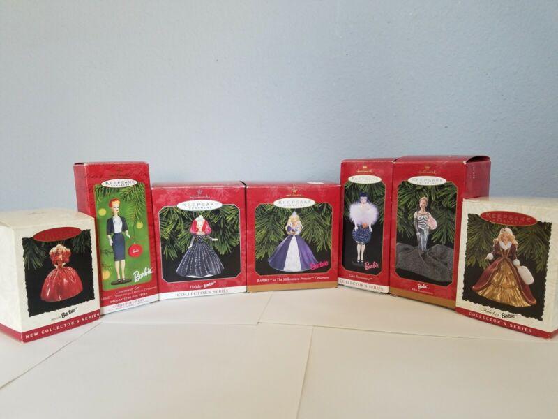 Hallmark Keepsake Ornaments - Lot of 7 Barbie Collectible Ornaments