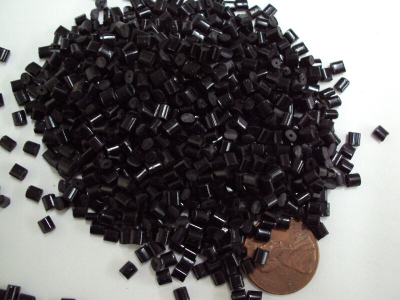 (6 MI) Black ABS Plastic Pellets Resin Material Injection Molding Grade 10 Lbs