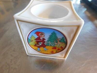 Hutschenreuther Porcelain Fairy Tale Little Red Riding Candle Holder 1999