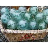 "Japanese Glass Fishing FLOATS 4-4.5"" LOT-5 Round RARE SIZE Buoy Balls Authentic!"