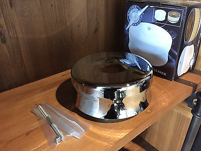 "Universal 6 3/8"" Dome ""Helmet"" Style Chrome Air Cleaner"