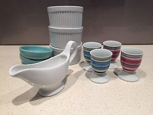 Various serving ware - sauce jug, egg cups, soy sauce dishes etc Kings Cross Inner Sydney Preview