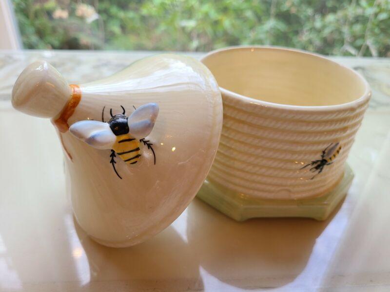 Crown Devin Honey Bee Sugar Bowl Honey Pot Bee Hive