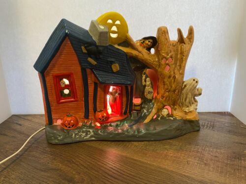 Halloween Ceramic Electrified Ceramic Haunted House PACIFIC RIM #6464 Rare