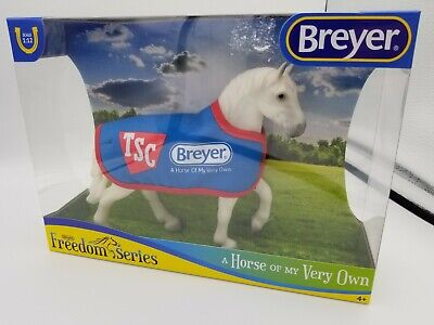 BREYER TSC Exclusive Classic Grey Percheron Draft Horse with blanket #5479