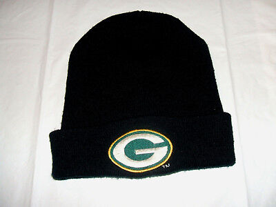 """Green Bay Packers Adult Black Winter Cuff Hat """"G"""" Logo for sale  Lakewood"""