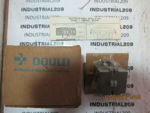 GOULD CONTROL RELAY CAT # J20M NEW IN BOX