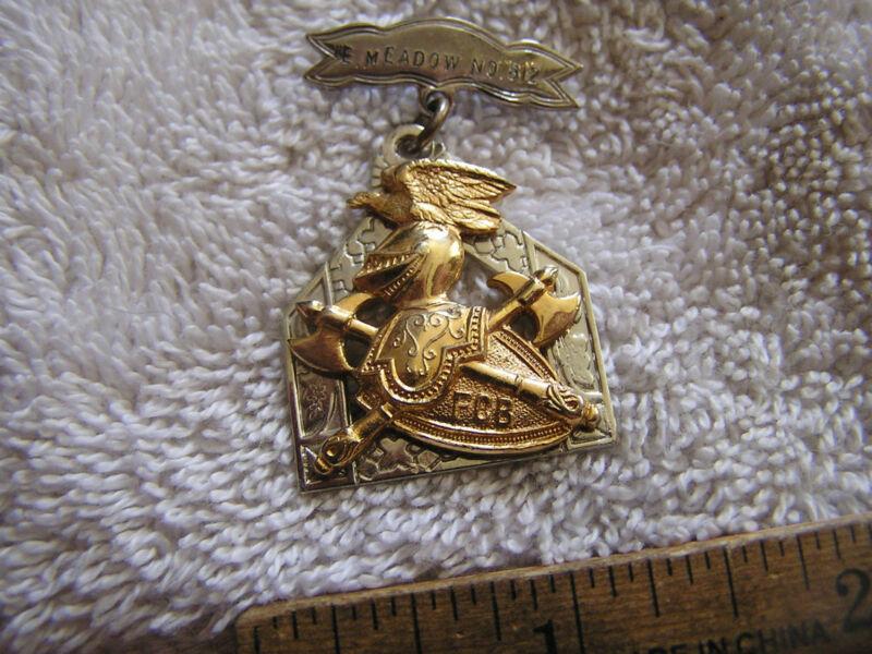 F.C.B. Knights Of Pythias Supreme Lodge Sterling Silver Pin