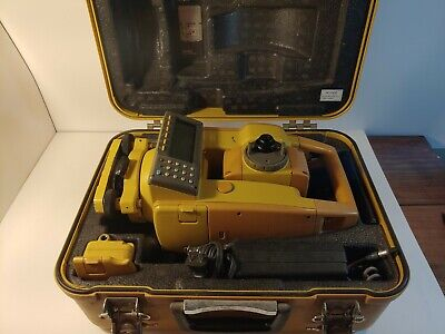 Topcon Gts-605 5 Total Station Surveying New Battery Case Charger