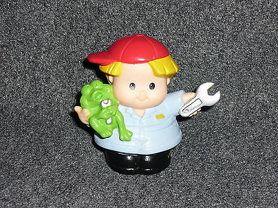 Used, Fisher Price Little People Car Truck MECHANIC Eddie Boy Dad for sale  Shipping to India