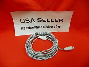 RARE SEEN - Extra Long 3M 10FT i5 multi-color Braided 8-Pin to USB Charger Cable