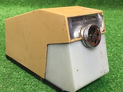 Vintage BOSTON Industrial Electric Pencil Sharpener MODEL 41 Tested Working