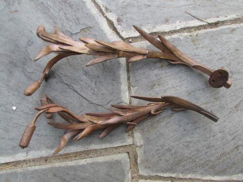 "Rare Antique Gilt Bronze Cattails-Ascetic Lifelike Nature-19th Century-6 Lbs 16"""