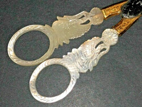 French Palais Royal Mother of Pearl MOP Nacre Sewing Sciccors