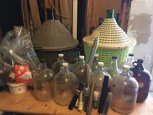 Huge Lot of Wine making supplies, demijohns and much more!