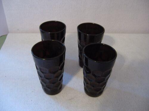 Imperial Provincial Pattern Dark Ruby Red Water Tumblers Set (4)