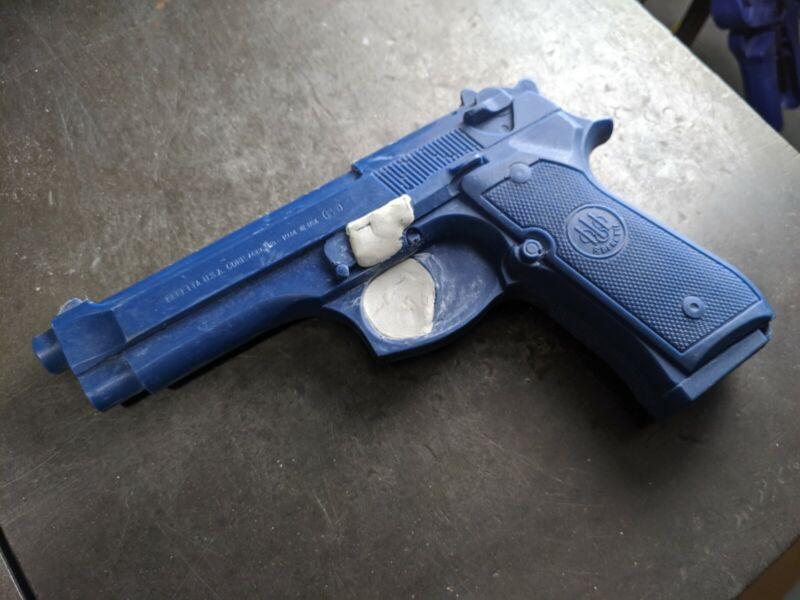 Blue Training Guns By Rings Blue Training Guns - Large Lot For Holster Making.