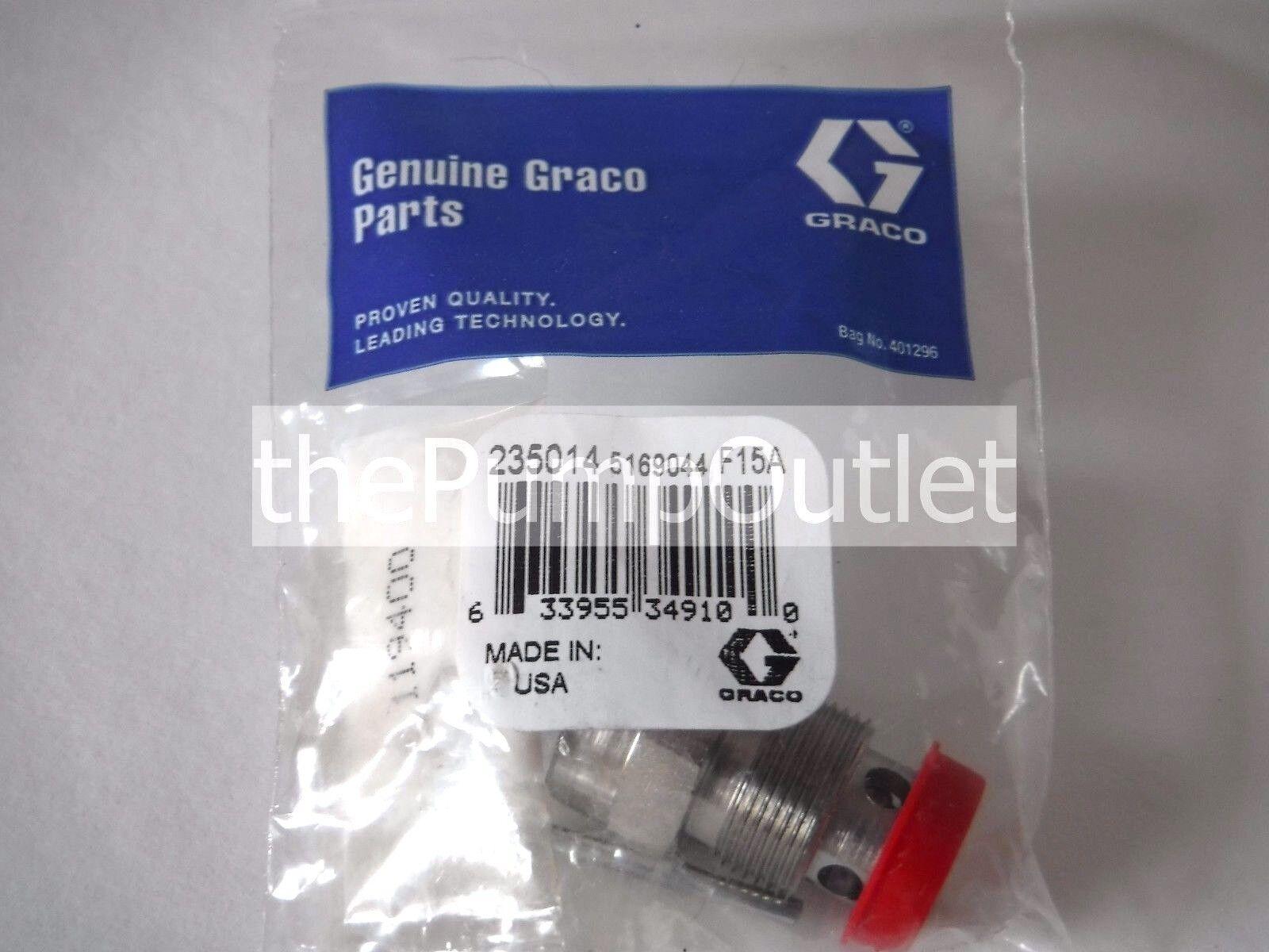 GRACO 235014 PRIME SPRAY VALVE ORIGINAL EQUIPMENT 235-014 W