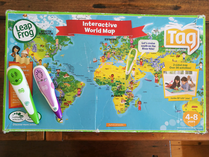 Leapfrog interactive world map and tag reader toys indoor leapfrog tag reading system gumiabroncs Gallery