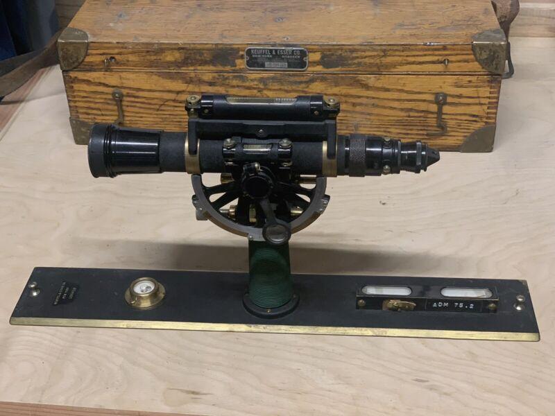 VIntage Keuffel & Esser Alidade 5093A w/ Wood Case
