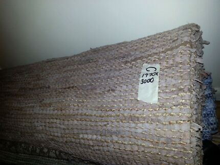 New Indian hand loomed leather and rope rug Lansvale Liverpool Area Preview