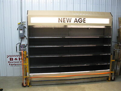 Barker 95 Open Air Refrigerated 8 Multi Deck Grocery Display Case Cooler 9524