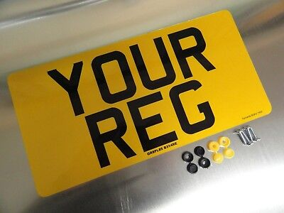 "13""x6.5"" REAR CAR NUMBER PLATE  100% MOT & ROAD LEGAL"