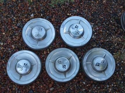 1958-62 Chev hub caps (5 of) and XA-XY Falcon hub caps (8 of) Belmont North Lake Macquarie Area Preview