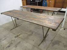 C26027 Vintage 2.39m Timber Trestle Table CAFE Outdoor Dining Unley Unley Area Preview