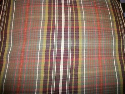 - RALPH LAUREN ROCK RIVER MADRAS PLAID QUEEN FITTED SHEET-EUC