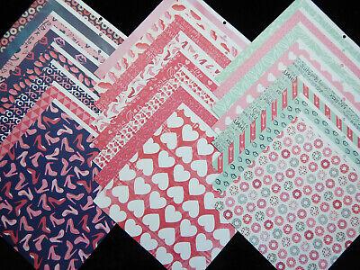 12X12 Scrapbook Paper Cardstock Girly Friends Besties Hearts Love Valentines 24 Cardstock 12x12 Scrapbook Paper