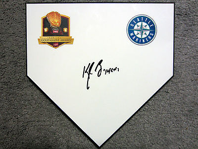 KYLE SEAGER Gold Glove Seattle Mariners SIGNED Autographed Home Plate Base w/COA