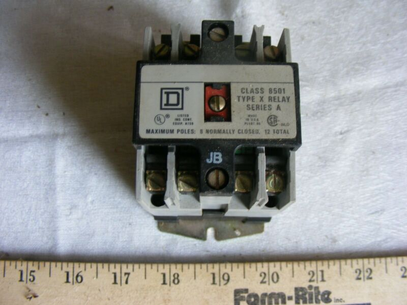 Square D XO 20 Industrial Control Relay Series A Class 8501 New 8501 XO-20