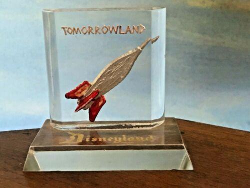 Disneyland Tomorrowland Lucite Acrylic Moonliner Rocket to Moon Souvenir 1950