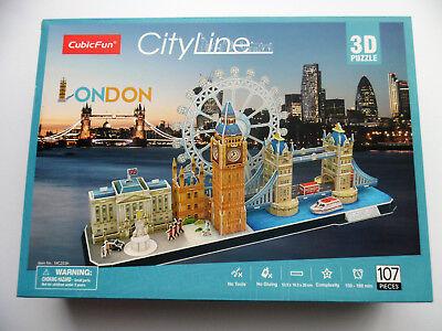 3D Puzzle Cityline London Cubic Fun Tower Bridge Big Ben Buckingham City Line