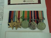WWII Australia Africa Group 5 service medals of QX9458 C.A.Ninnes Coalfalls Ipswich City Preview